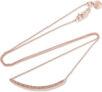 Monica Vinader Skinny Curve 18-karat Rose Gold Vermeil Diamond Necklace