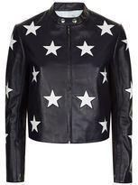 Sandro Felicy Star Leather Jacket