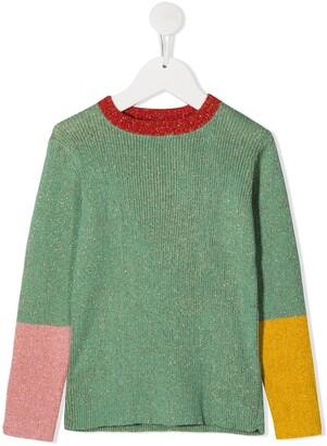 Stella McCartney Kids Metallic Threading Knitted Jumper