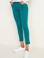 Old Navy Mid-Rise Pop-Color Side-Slit Rockstar Super Skinny Jeans for Women
