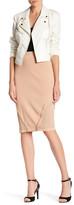 Rachel Roy Combination Knit Pencil Skirt