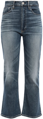 3x1 Distressed High-rise Kick-flare Jeans