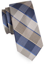 Michael Michael Kors Plaid Silk-Cotton Tie