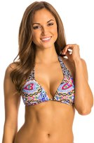 Red Carter Tropical Topaz Reversible Halter Bikini Top 8134581