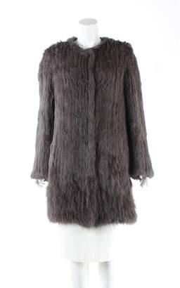 Meteo Brown Fur Coat for Women