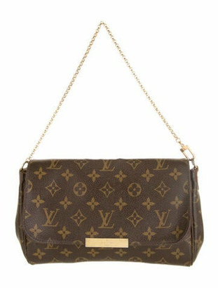 Louis Vuitton Monogram Favorite MM w/Strap Brown