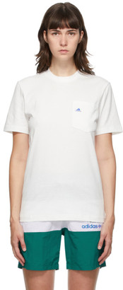 Noah NYC White adidas Edition Shell Pocket T-Shirt