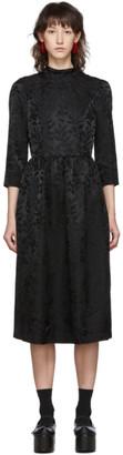 Noir Kei Ninomiya Black Jacquard Flower High Neck Dress