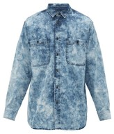 Isabel Marant Helynton Acid-wash Cotton-denim Shirt - Mens - Blue