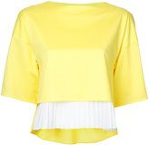 Taro Horiuchi pleated hem blouse