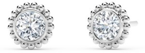 Forevermark Tribute Collection Diamond (1/3 ct. t.w.)Studs with Beaded Detail in 18k Yellow, White and Rose Gold