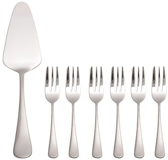 Maxwell & Williams Madison 18/10 Stainless Steel 7 Piece Cake Server & Fork Set