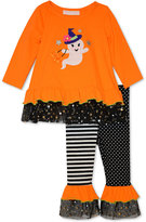 Bonnie Baby Baby Girls' 2-Pc. Halloween Ghost Witch Tunic & Leggings Set