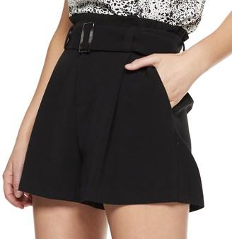 Nine West Women's Paperbag Belted Shorts