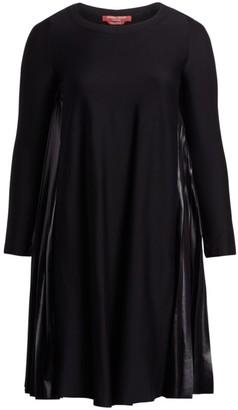 Marina Rinaldi, Plus Size Occupato Mixed Media A-Line Dress