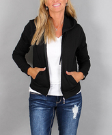 Ambiance Black French Terry Hooded Jacket