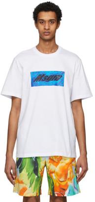 MSGM White Pool Patch T-Shirt