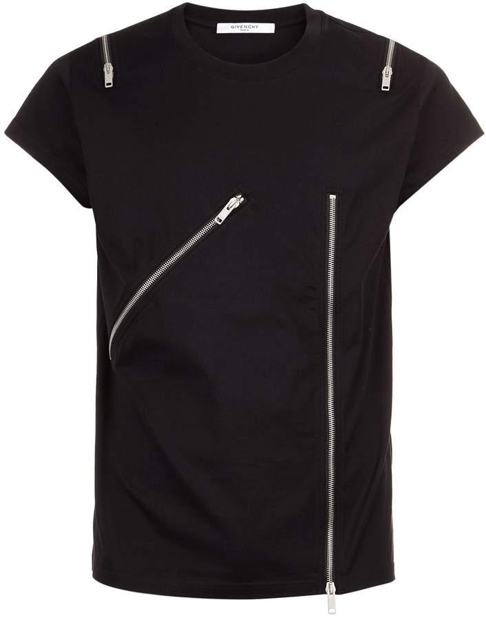 Givenchy Zip Embellished T-Shirt