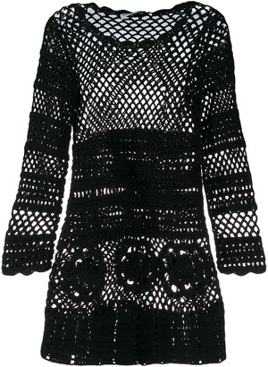 Self-Portrait crochet knit dress