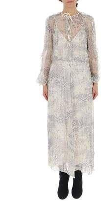 RED Valentino Sheer Detailed Maxi Dress