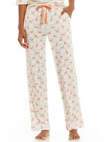 Sleep Sense Striped Fox-Print Sleep Pants