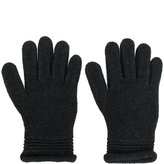 Armani Jeans embellished logo gloves - women - Acrylic/Wool - M