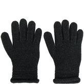Armani Jeans embellished logo gloves