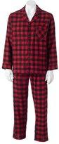 Hanes Big & Tall Plaid Flannel Pajama Set