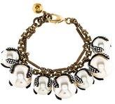 Lulu Frost Faux Pearl & Crystal Charm Bracelet