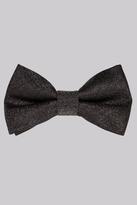 Moss Bros Black Metallic Bow Tie