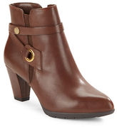Anne Klein Chelsey Leather Ankle Boots