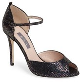 Sarah Jessica Parker Women's By By 'Ursula' Open Toe D'Orsay Metallic Leather Pump