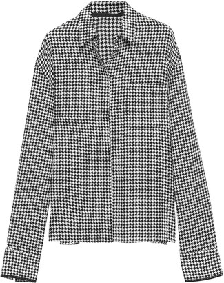 Haider Ackermann Houndstooth Cotton Shirt