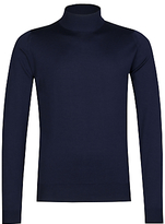 John Smedley Harcourt Turtle Neck Jumper, Midnight