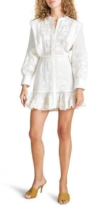 Veronica Beard Analeah Embroidered Long Sleeve Dress