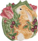 Fitz & Floyd Blackberry Rabbit Accent Plate