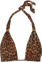 Vix Bia leopard-print triangle bikini top