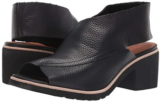 L'Amour des Pieds Qiana (Black Leather) High Heels