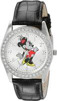 Disney Women's 'Minnie Mouse' Quartz Metal Automatic Watch, Color: (Model: W002763)
