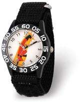 Disney Incredibles Bob Parr Boys' Black Plastic Time Teacher Watch,Black Hook and Loop Nylon Strap