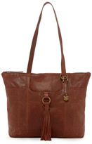Lucky Brand April Top Zip Leather Tote