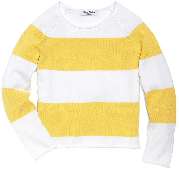 Brooks Brothers Wide Stripe Roll Neck Sweater