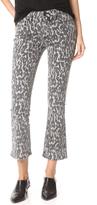 Paige Rosie HW x Poppy Leopard Slim Crop Flares