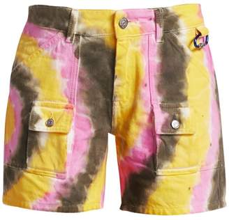 Ganni Colored Washed Denim Shorts