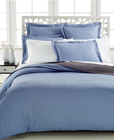 Charter Club CLOSEOUT! Damask Stripe Twin Duvet Cover, 500 Thread Count 100% Pima Cotton, Created for Macy's