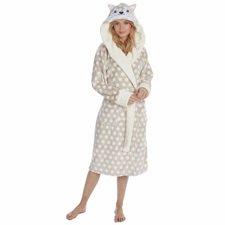 Metzuyan Ladies Flannel Novelty Hooded Gown