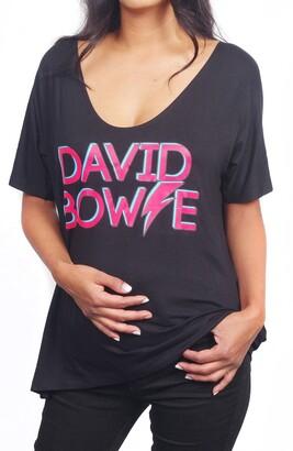 Vip Mama David Bowie Maternity Graphic Tee & Rebel Rebel Bodysuit Set
