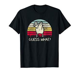 GUESS Retro Colors Vintage What Chicken Butt Funny T-Shirt