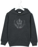 Dolce & Gabbana embroidered crown hoodie - kids - Cotton - 10 yrs
