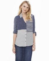 Express original fit mixed stripe portofino shirt